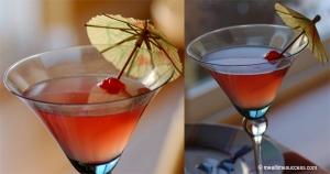 Cran apple cosmopolitan cocktail