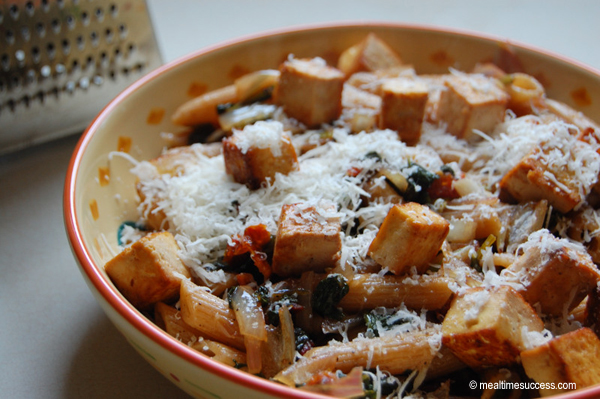 Recipe pasta with tofu