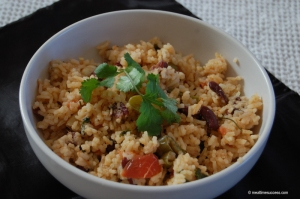 Rice with bean and peppers