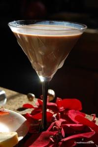 Valentine's special chocolate martini
