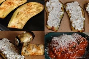 Eggplant ricotta rolls
