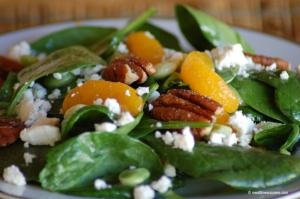 Valentine day gourmet salad