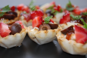 Strawberry phyllo cups 2